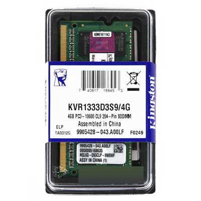 4GB MEMORIA  DDR-3 1333MHZ PC3-10600 KINGSTON